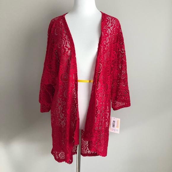 NWT LuLaRoe LINDSAY Lace Kimono Small